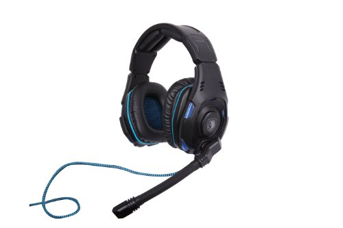 Sades Sa-907 Pc Gaming Headset W/ Microphone + Volume Control - Black/Blue