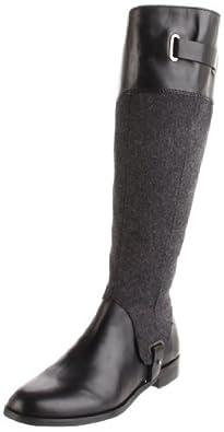 Etienne Aigner Women's Gilbert Riding Boot,Black/Dark Grey,5.5 M US