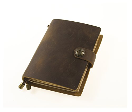 UNIQUE HM&LN Genuine Leather Journal Notebook Refillable 5.3