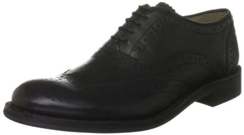 Brand X Men's Oxford Brogue Black Shoe AM02011 11 UK
