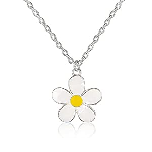Childrens Pretty Daisy Necklace - matching earring and ring available - arrives in pretty gift bag.