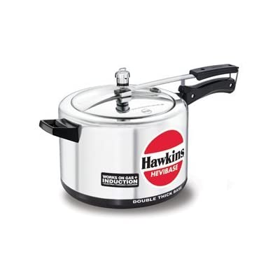 Hawkins Hevibase IH80 8-Litre Induction Pressure Cooker, Small, Silver