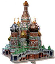 Puzz 3-D St. Basil's Cathedral by Wrebbit 708 pieces