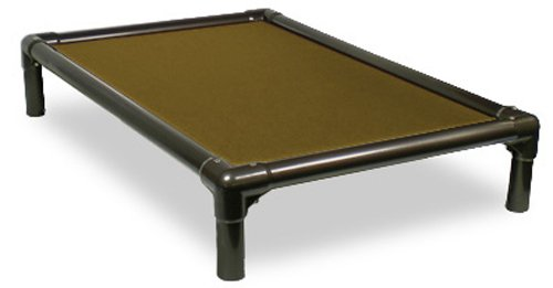 Kuranda Walnut PVC Chewproof Dog Bed - Medium (35x23) - Cordura - Khaki