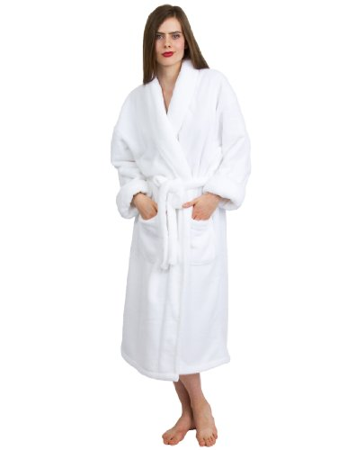 TowelSelections Super Soft Plush Bathrobe Fleece Spa Robe Made in Turkey