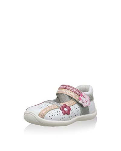 Billowy Merceditas Blanco / Fucsia