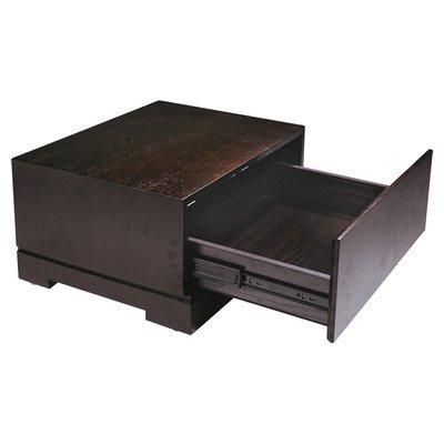 Bh Design Zen Single Drawer Night Stand, Espresso Finish front-44486