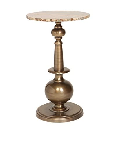 Prima Accent Table With Turned Post, Brass