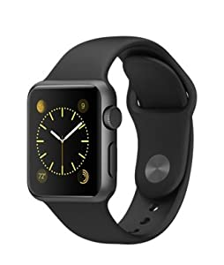 Apple Watch Sports Silver Aluminium Case US Model (38mm, Black)
