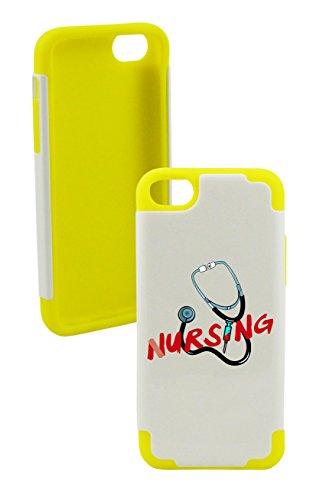 Phonetatoos (Tm) For Iphone 5C Nursing Plastic & Silicone Case- Lifetime Warranty (Yellow)