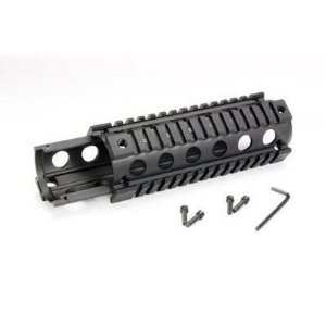Global Sportsman Tactical Combat Military 2 Piece AR15 AR 15 M4 Carbine Rifle Quad 4 Weaver Picatinny Rail Aluminum Handguard