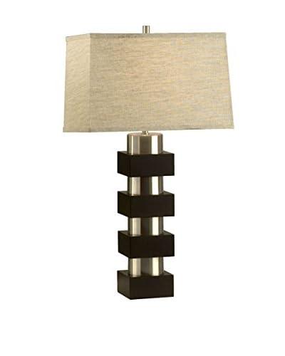 Nova Lighting Morgen Table Lamp, Silver/Pewter