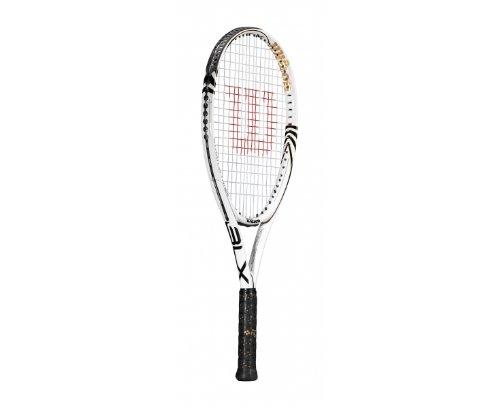 Wilson Stratus Three BLX Tennis Racket - L4, White