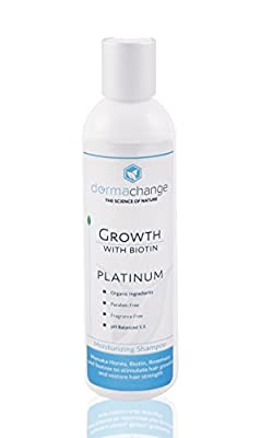 DermaChange Platinum Hair Growth Shampoo - With Vitamins - To Make Hair Grow Fast - Argan Oil and Biotin To Support Regrowth - Reduce Thinning and Hair Loss For Men and Woman