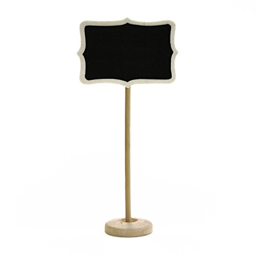 Dress My Cupcake Pack of 10 Vintage Chalkboard Place Card Holder Stand for Dessert Table (Dessert Table Containers compare prices)