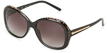 Givenchy Sunglasses SGV767-09X5 Rectangular Sunglasses,Black Leopard,57 mm