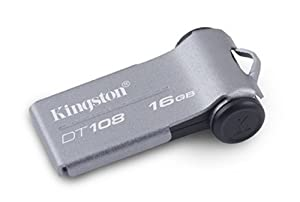 Kingston Technology DataTraveler 108 16GB - Memoria USB (16 GB, USB 2.0, Girar, 37.33 mm, 10.00 mm, 19.97 mm) Gris