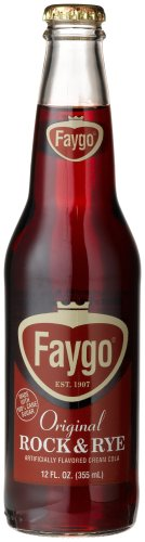 "Faygo ROCK N RYE - THE ORIGINAL CREAM COLA FROM DETROIT ""Insane Clown's Favorite"", 12-Ounce Glass Bottles (Pack of 12)"
