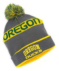 NCAA Licensed Oregon Ducks Pom Cuffed Emboidered Name Beanie by NCAA