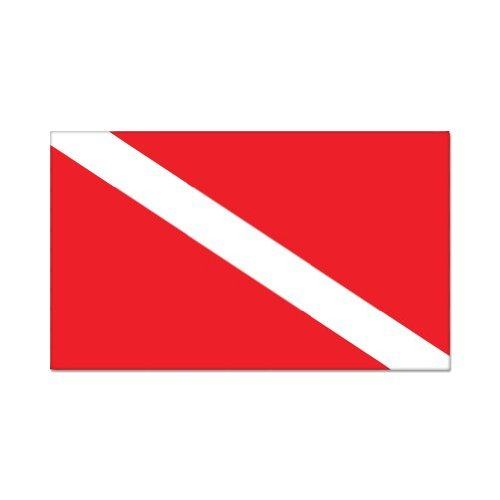 Scuba Diver Diving Flag Vinyl Sticker - Car Phone Helmet - SELECT SIZE