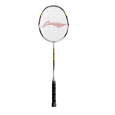 Li-Ning SS-21 Super Carbon Fiber Badminton Racquet, Size S2 (White/Black)
