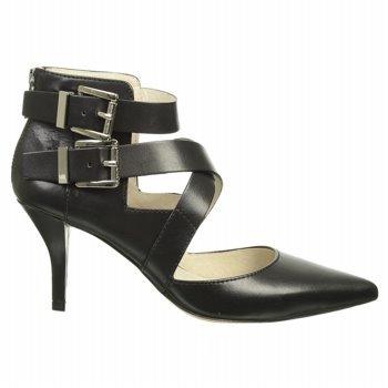 Michael Michael Kors Women'S Tamara Cross Strap (Black Leather 8.0 M)