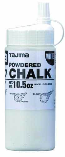 Tajima PLC2-W300 White Ultra Fine Snap Line Chalk, with easy fill nozzle 10.5 oz.