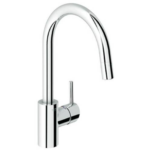 Grohe 32 665 Single Handle Pull-Down Spray Kitchen Faucet