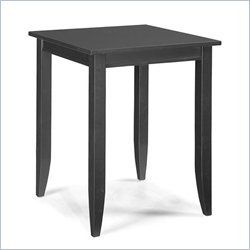 Home Styles Bedford Square Wood Bistro Casual Dining Table in Ebony