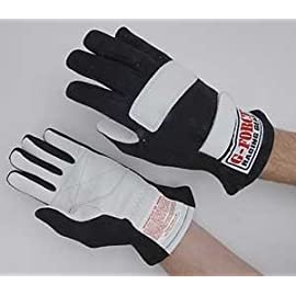 G-Force 4100LRGBK G1 Racing Gloves Large Black