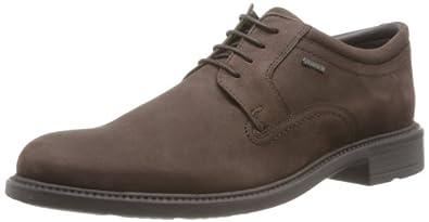 Clarks Fawley Lo Gtx, Chaussures de ville homme - Marron (Dark Brown Nub), 40 EU (6.5 UK)