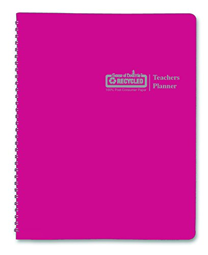 house-of-doolittle-teachers-planner-pink-leatherette-cover-45-weeks-7-periods-seating-chart-records-