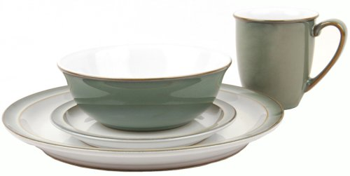 Denby Regency Green 16 Piece Boxed Tableware