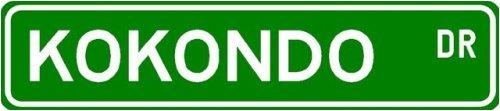 Kokondo Street Sign ~ Martial Arts Gift ~ Aluminum