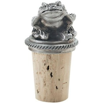 Pewter Frog Thinking Wine Bottle Stopper