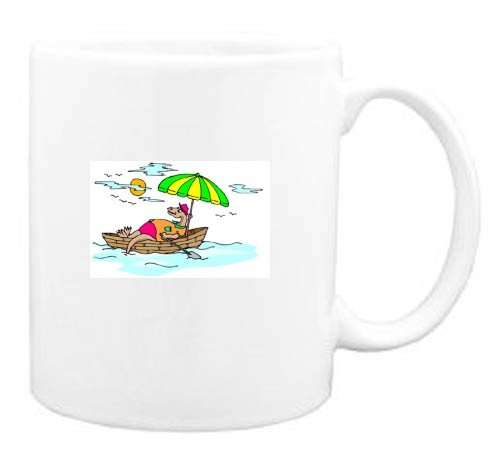 Mug with dinosaur, boat, vacation