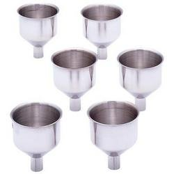 Maxam® 6pc Large Stainless Steel Flask Funnel Set