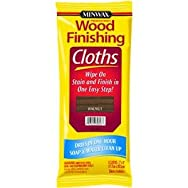 Minwax 308230000 Minwax Wood Stain & Finish Wipes-WALNUT WIPE STAIN CLOTH