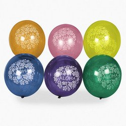 Hibiscus Print Balloons (4 dz) by Fun Express