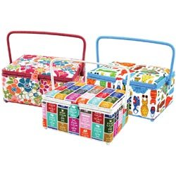 Rectangular Sewing Basket 14 Inch X10 Inch X6-1/2 Inch