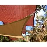 San Diego Shade Sail 10'x10' Square - Coffee Brown