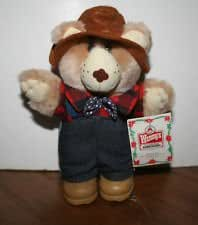 Furskins Bears - Farrell Furskin Holiday Bear - Wendy's - 1986