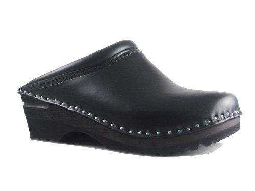 Troentorp Women'S Båstad Monet Black Leather Clogs 39 Eu