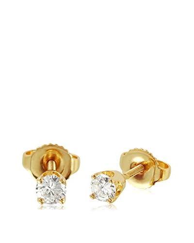 Fashion Strada 14K Yellow Gold Diamond Stud Earrings
