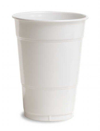 Creative Converting 600 Count Case Touch Of Color Plastic Cups, 16-Ounce, White
