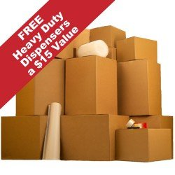 2 Room Kit with Bigger Moving Boxes 30 Boxes ,Tape, & more $129 Value: