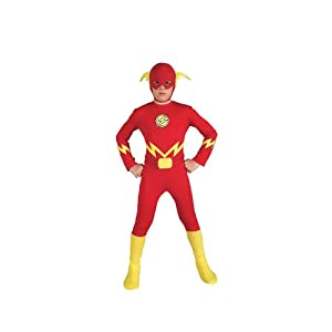 Child Medium (Size 8-10, 5-7 Yrs) - The Flash Costume - Officially Licensed TM Costume