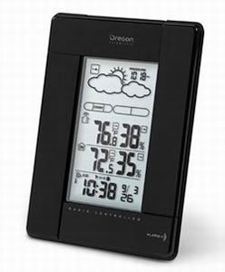 Oregon Scientific Black Wireless Weather Station With Humidity Display And Atomic Clock
