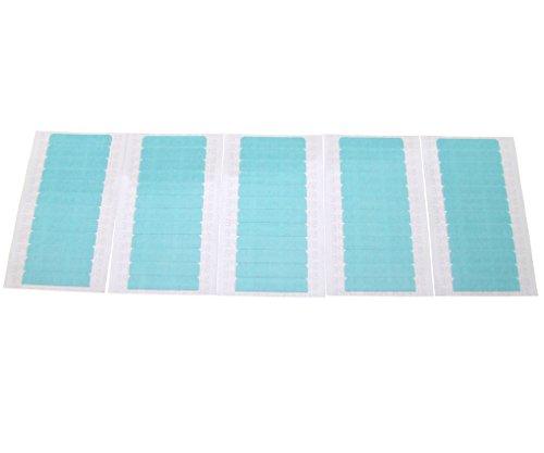 60-Stk-Pre-Cut-Doppelseitige-Klebeband-Blue-Tape-fr-Haut-Haar-Verlngerungen