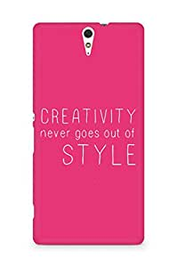 AMEZ creativity never goes out of style Back Cover For Sony Xperia C5